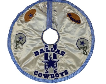 Dallas Cowboys Football Christmas Tree Skirt