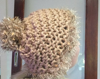 Cute and Snuggly Beanie HandMade Winter Hat accessory