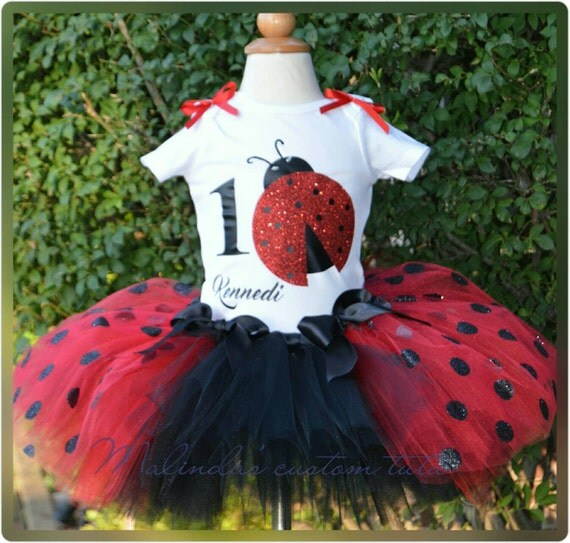 Little Lady Bug Tutu Set. 1st Birthday Tutupoka By