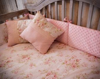 Decorative Pillows - Pink Shabby Chic Fleural