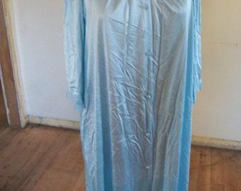 BEAUTIFUL Womens Full Length Blue Nightgown/Robe
