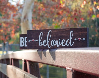 BELOVED / rustic wood sign / home decor / office decor / Christian Decor / Bible Decor / Bible Signs / Bible Verses / Wood Sign