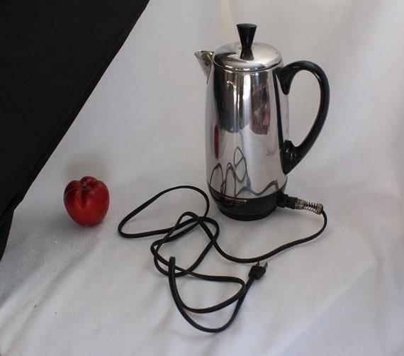 Farberware Coffee Pot Electric Cord : Vintage Farberware Coffee Percolator Electric Coffee Pot