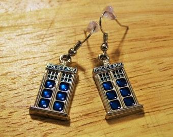 Doctor Who Police Box Earrings