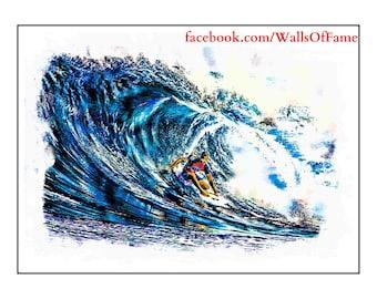 Surfer 4 Impressionist Print