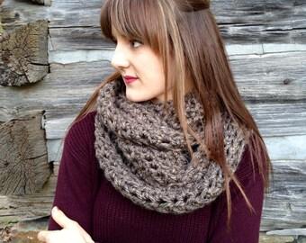 NEW The Loren Handmade Crochet Infinity Chunky Knit Scarf