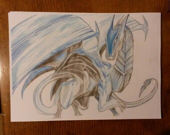My Drawing Of An Ice Dragon.