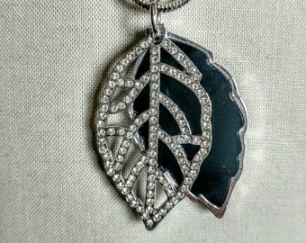 Long Necklace Pattern Necklace Pendants Leaf Jewelry