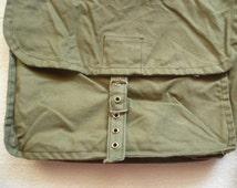 SALE bags, Vintage sovietic army canvas bag, messenger bag, military bag, soldier bag, crossbody bag, school bag, unisex bag, 1980s,