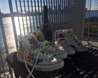 Hand-Painted  Wedding Sneakers