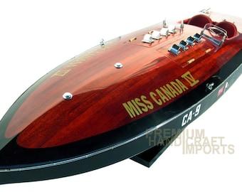 Miss Canada IV Replica Wooden Race Boat CA-9