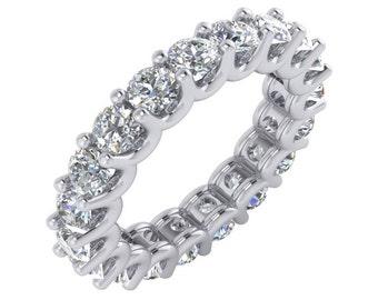 3 Carat Diamond Eternity Band. 3 Carat Diamond Ring, 3 Carat Eternity Ring. Diamond Wedding Band in 14k Gold.