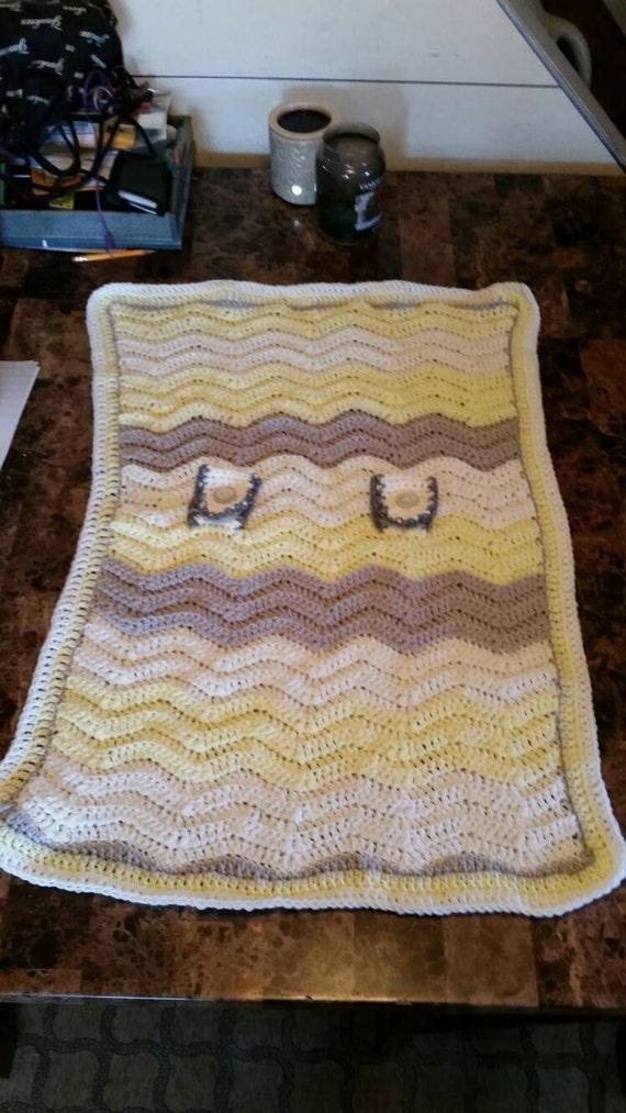 Items Similar To Crochet Chevron Baby Car Seat Carrier