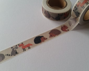 Forest Animals Washi Tape