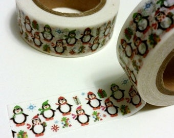 Holiday Penguin Washi Tape