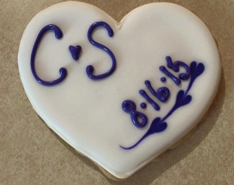 1 Dozen Custom Monogram Cookies