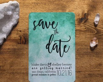 Customized Printable Watercolor Save the Date | The Shelley Collection