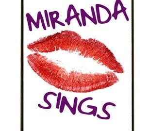 MIRANDA SINGS LIPS iPhone case