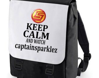 Keep Calm and watch captainsparlez Backpack perfect for school (Bagbase)