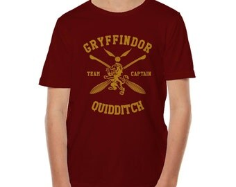CAPTAIN - Gryffin Quidditch team Captain on YOUTH tee Gildan 200B