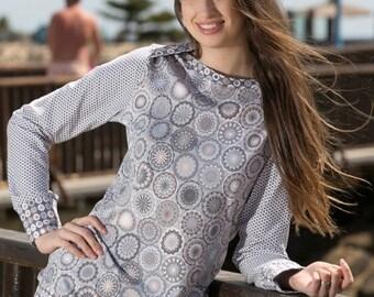 ELIAS envelope neckline shirt / longsleeve sewing pattern, sizes 158–46 (Kids M–women XL) / Instant Download