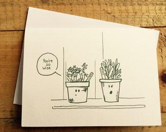 Herb Pun Greeting Card