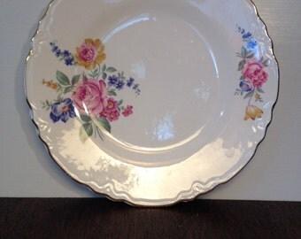 Vintage Flowered Serving Plate
