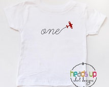 One Birthday Shirt Toddler Airplane Boy/Girl - First Birthday Baby Onesie 1 Airplane - Plane tshirt 1st Bday - Birthday Tee Trendy - Gift -