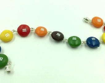 M&M link bracelet fake food jewelry realistic accessories
