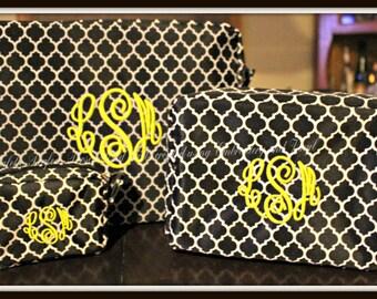Toiletry Bag Set, Personalized Cosmetic Bags, Monogrammed Makeup Bag Set, Customized  Makeup Bags, Customized Toiletry Bags, Monogrammed Bag