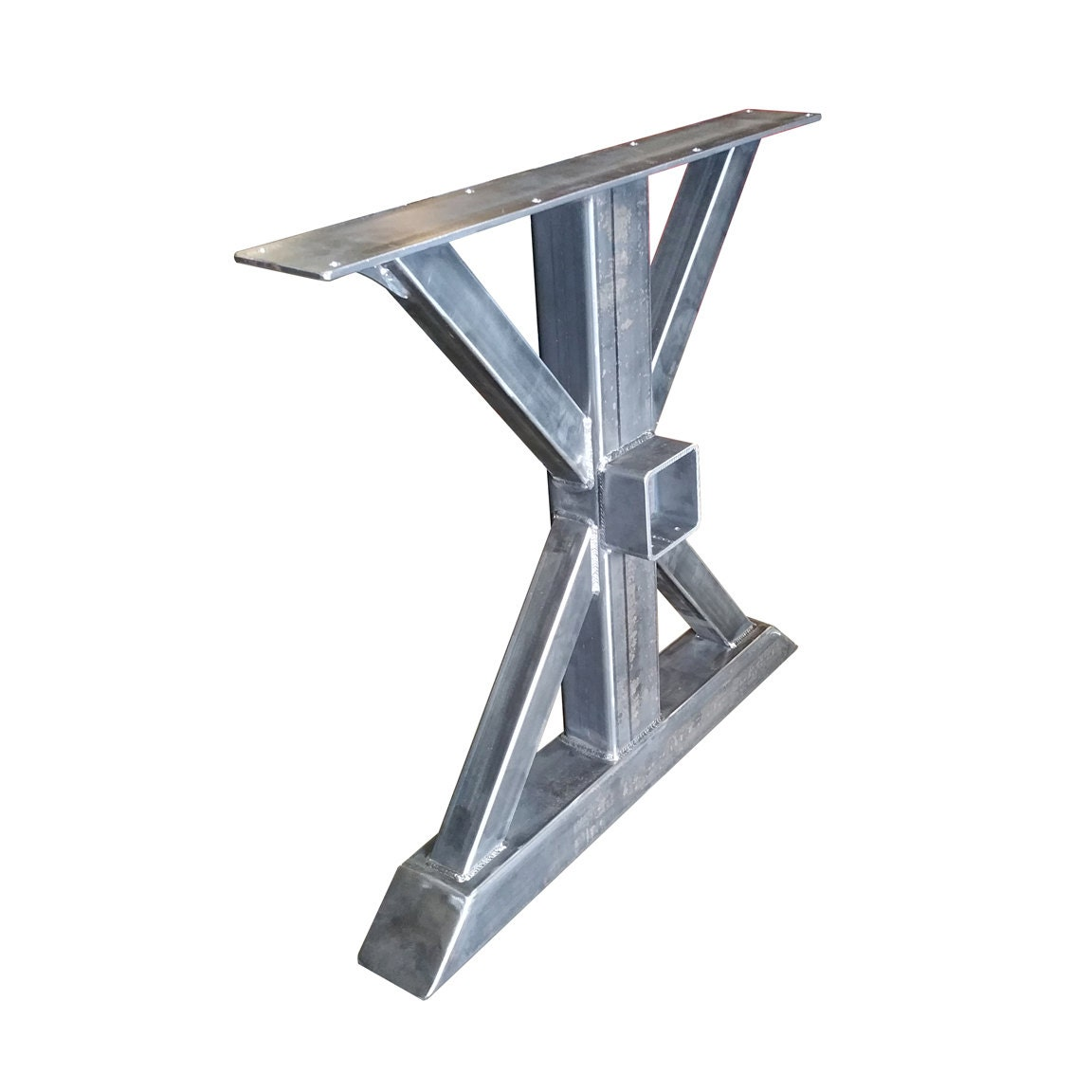 The cleveland crossbeam table leg for 4x4 dining table