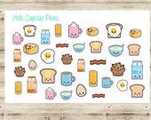 Kawaii Breakfast Food Planner Stickers