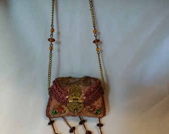 Vintage Beaded Purse Pin Cushion