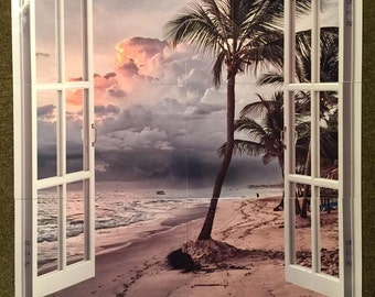 Open window sublimation mural.