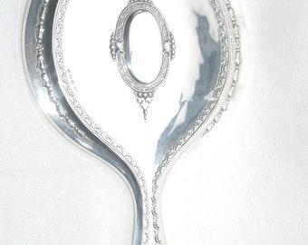 Solid Silver Hand Mirror 1914