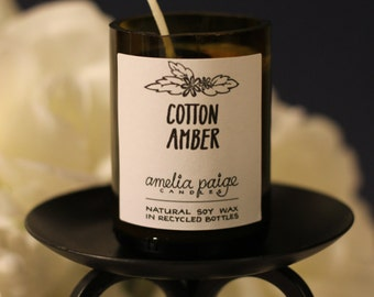 Cotton Amber Candle