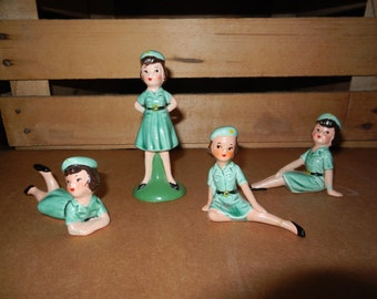 Vintage Girl Scout figurines