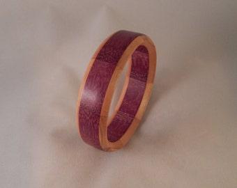 Purple heart and cherry segmented bracelet