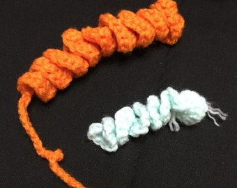 Crochet Cat Toy, Kitty Toy, Curly Cat Toy, Cat Toy With Bell