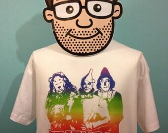 Wizard of Oz - Friends of Dorothy T-Shirt (Cowardly Lion / Tin Man / Scarecrow / L. Frank Baum) - White Shirt