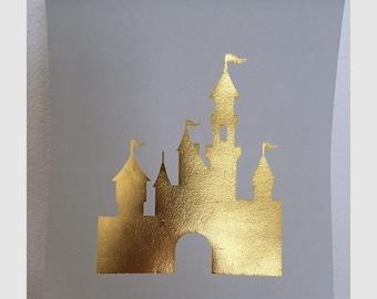 CASTLE GOLD FOIL print