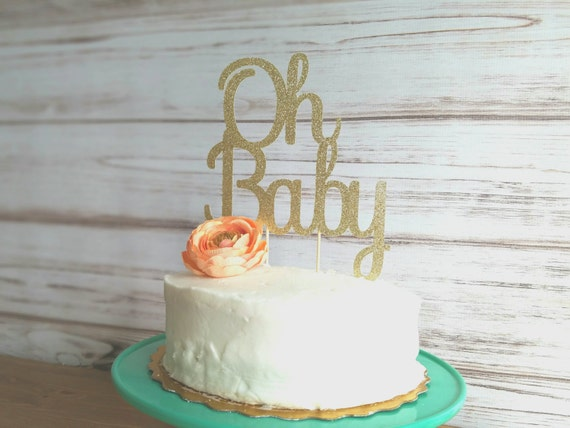 Cake Toppers Baby Shower Etsy : Oh baby cake topper baby shower cake topper baby shower