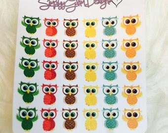 Autumn Owl Stickers | Erin Condren & Plum Paper Planner