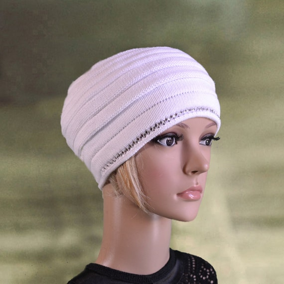 Knitting Women S Hats : Knitted ladies hats womens knit white by