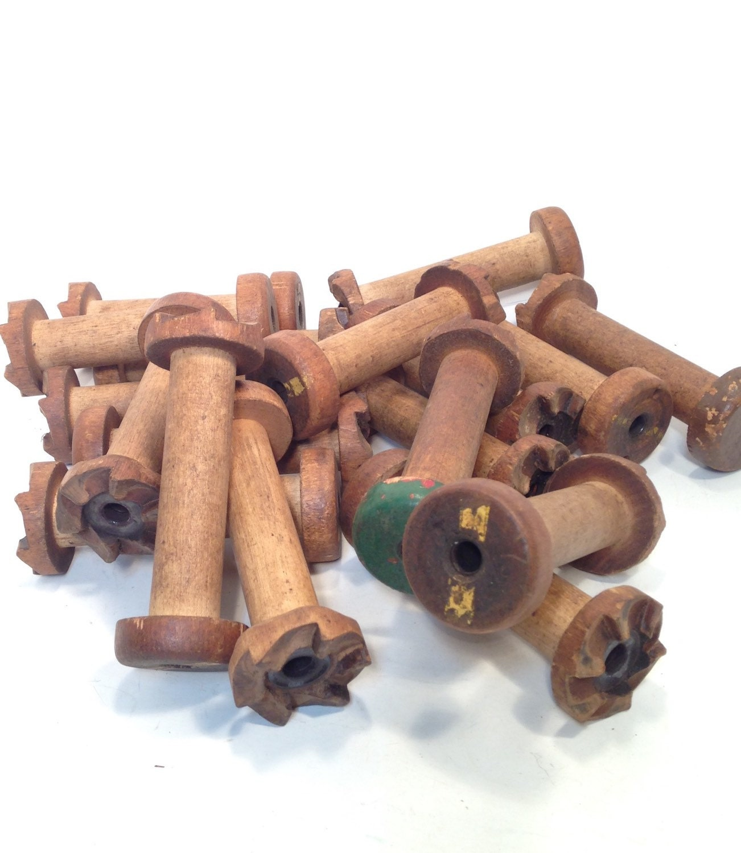 Vintage wooden spools crafts