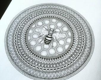 Bee inspired mandala