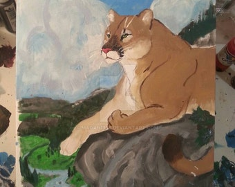 cougar painting