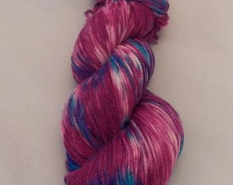 Razzmatazz- Merino Sport Weight Yarn- Hand Dyed- OOAK