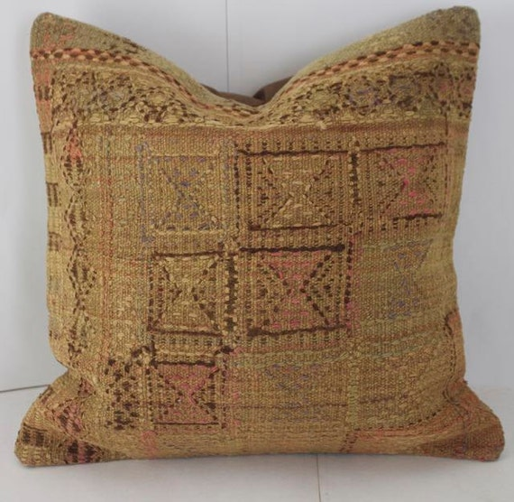 16x16 kilim pillow cover brown and pink pillow for couch. Black Bedroom Furniture Sets. Home Design Ideas