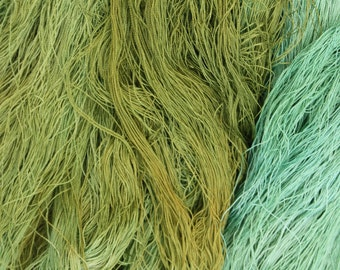 100% silk lace weight. 60/2 hand dyed 100grm